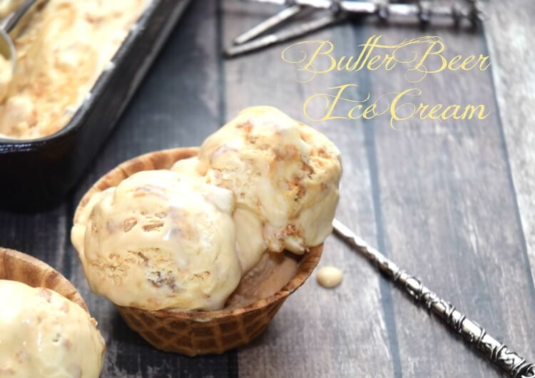 Harry Potter Butter Beer #IceCream - the perfect treat to celebrate! #harrypotter #food