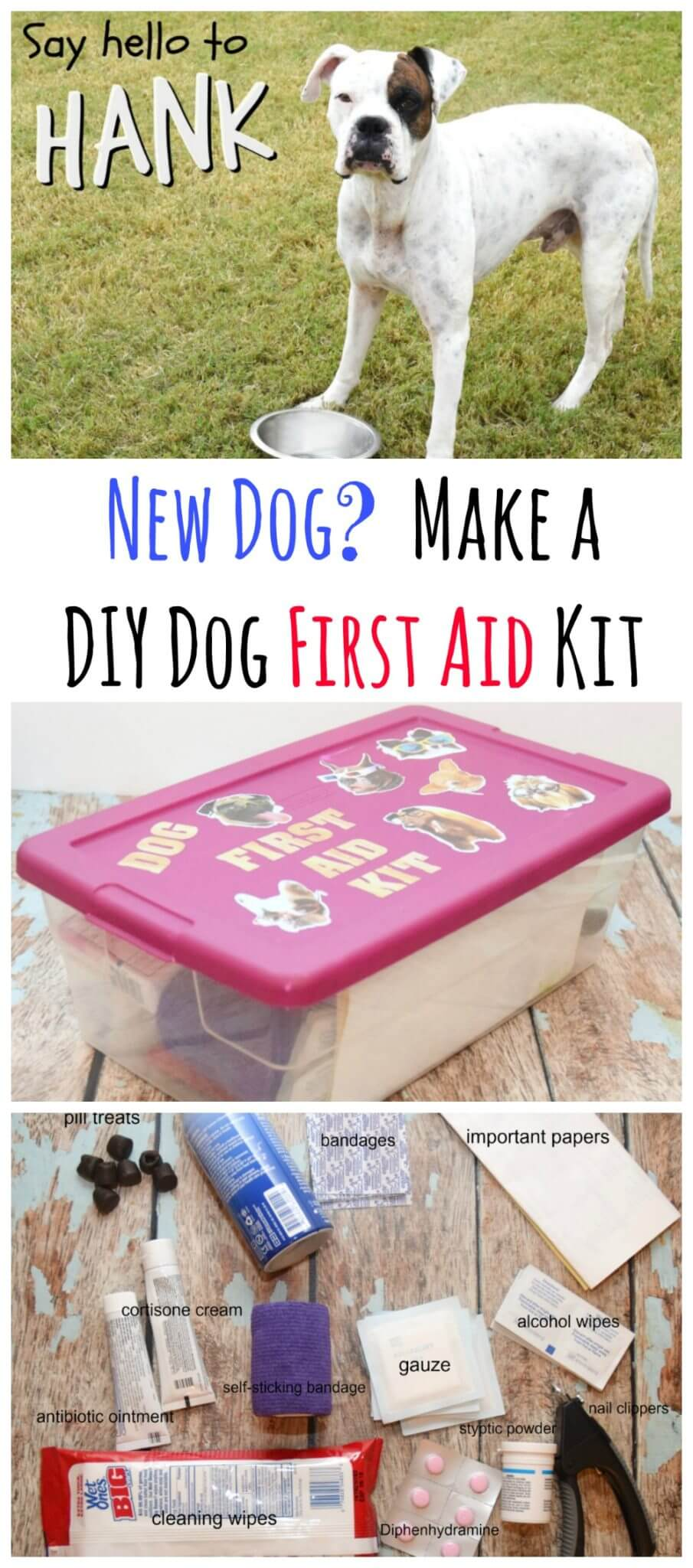New Dog & DIY Dog First Aid Kit | The TipToe Fairy