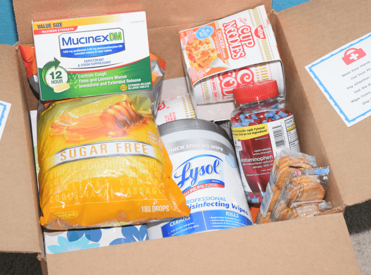 Cold & Flu College Care Package w/ FREE Printable! #ad