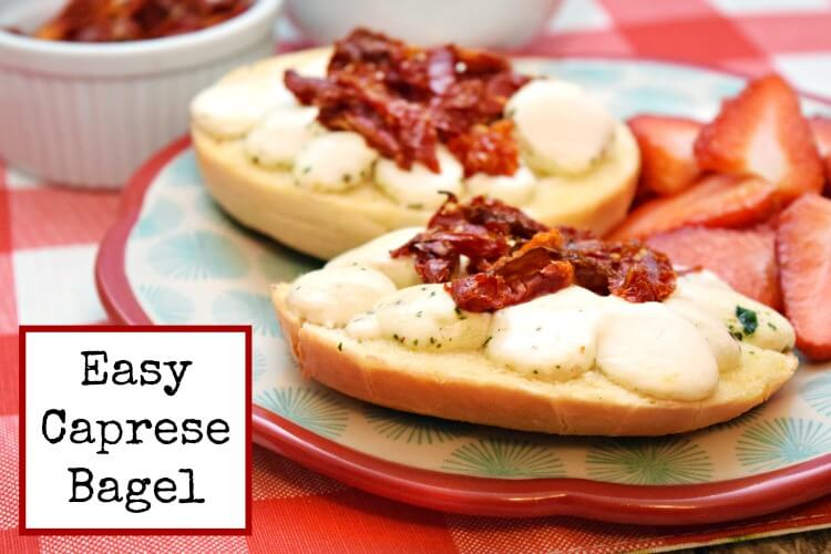 Easy Caprese Bagels are perfect for breakfast for the family! #ad #BagelMyWay