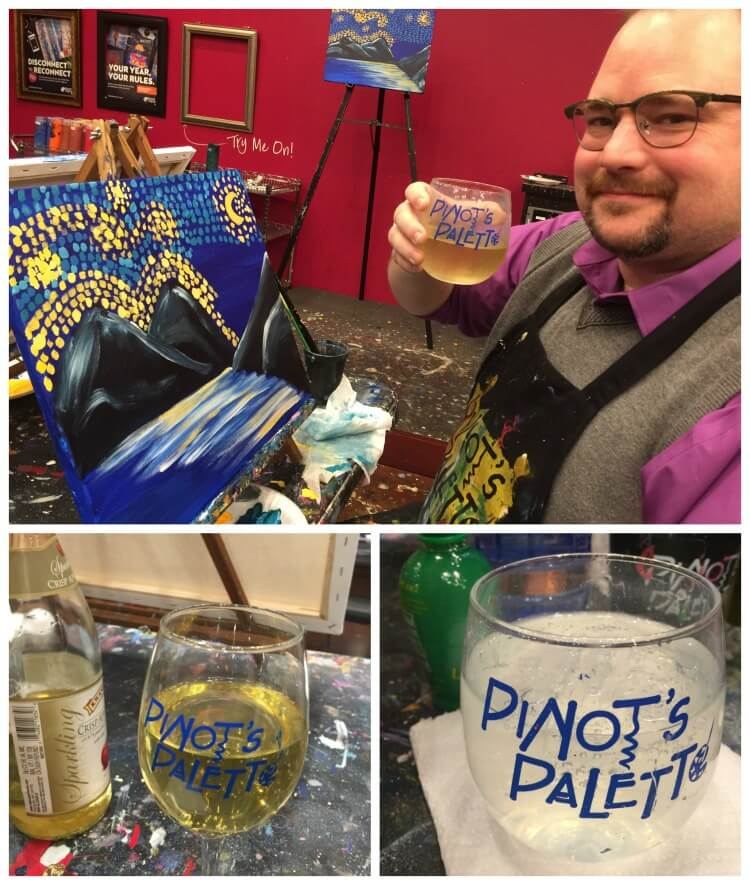 Check out how to have a great #paintandsip date night @PinotsPalette #ad #pintopalette #disconnecttoreconnect