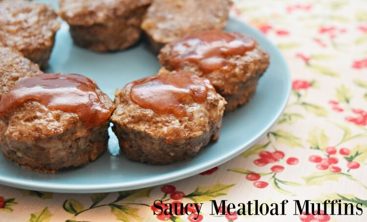 Make meatloaf quicker as Saucy Meatloaf Muffins w/yummy 2-ingredient sauce! #KetchupWithFrenchs #ad