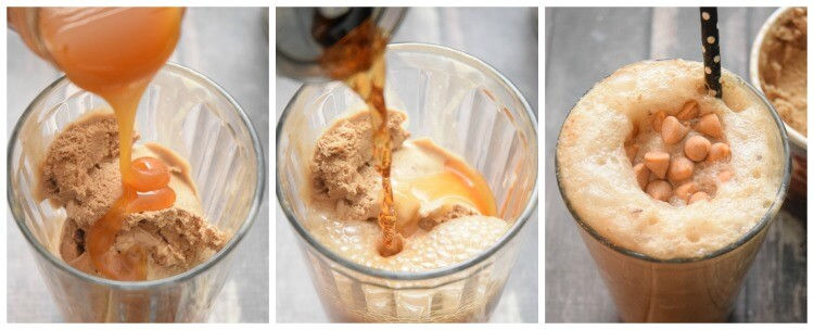 Easily make Butter Beer Gourmet Ice Cream Floats for some Harry Potter movie watching! #yum #drink #icecream