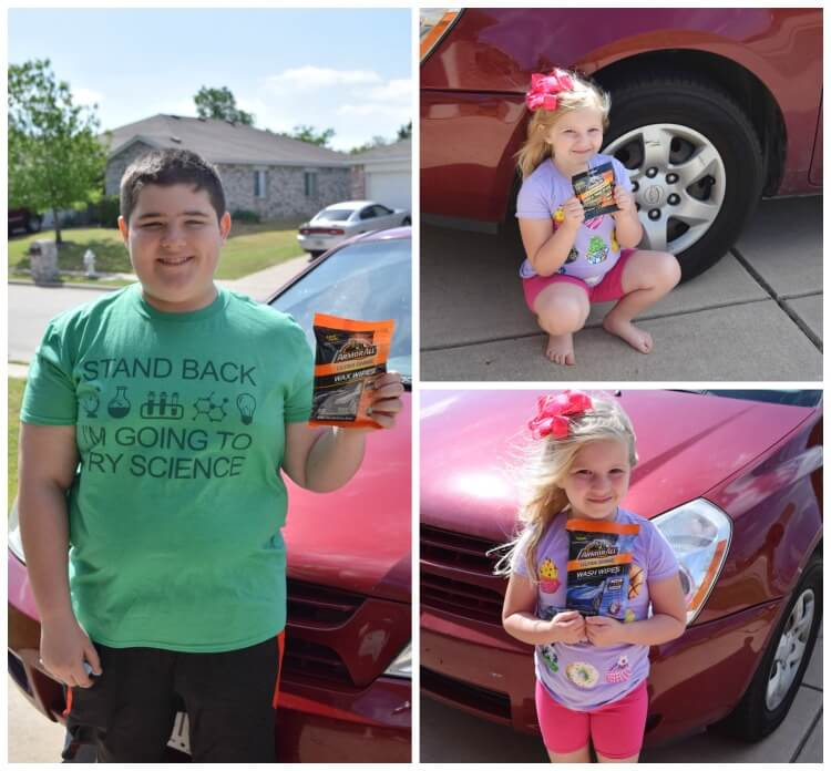 Get the kids to help w/the car wash! #ad #pmedia #LessTimeMoreShine @Armor_All @Walmart