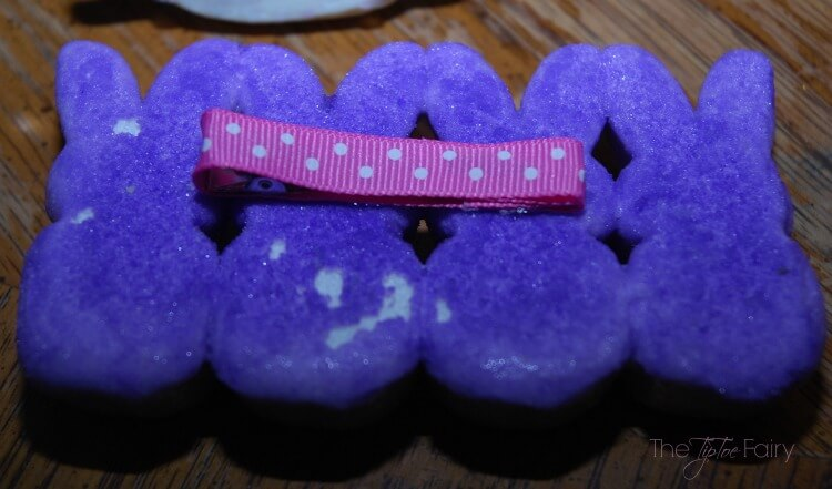 #DIY Marshmallow Peep Hair Clip for #Easter