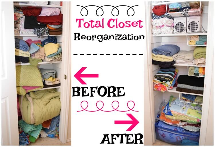 Come see how I #OrganizeWithZiplocSpaceBags to give our linen closet tons of room! #ad