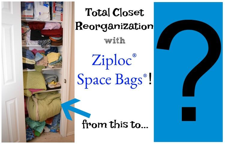 Come See How I #OrganizeWithZiplocSpaceBags To Give Our Linen Closet Tons  Of Room! #