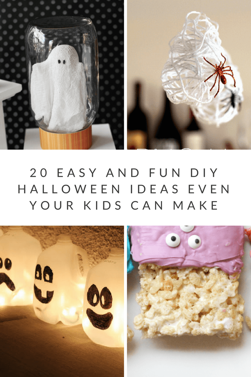 20 Fun & Easy Halloween Ideas Kids Can Make! #halloween #craft #diy