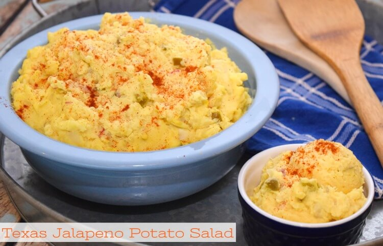 Add a spicy twist to your potato salad w/ Texas Jalapeno Potato Salad! #VivaLaMorena #ad