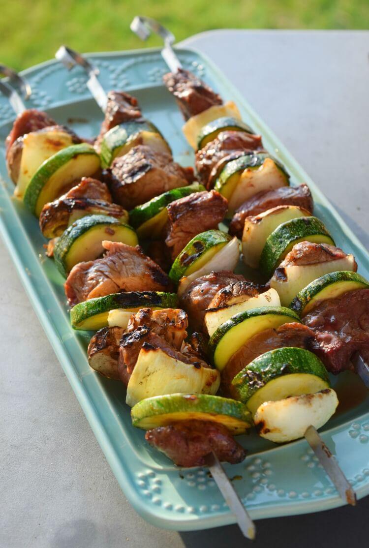 You'll love these Sesame Steak & Veggie Kabobs - It's #GrillingMadeSimple! #ad @walmart