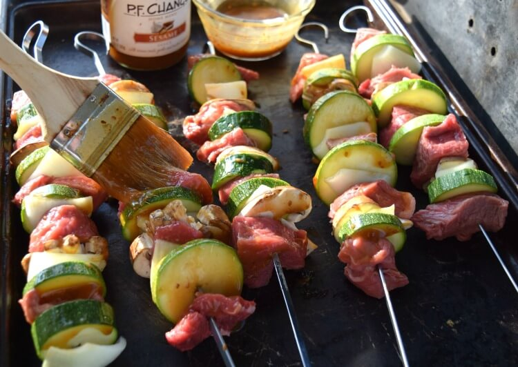 You'll love these Sesame Steak & Veggie Kabobs - It's #GrillingMadeSimple! #ad @walmart