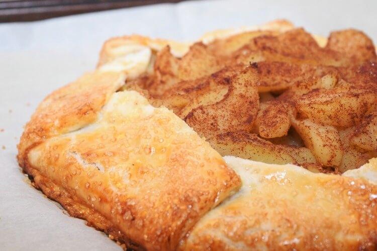 Apple Peanut Butter Rustic Tart - simple and delicious #dessert!