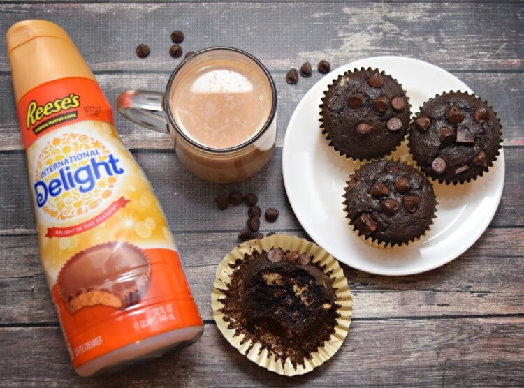 AD New @indelight REESE'S Peanut Butter Cup @Walmart! I made these Chocolate Peanut Butter Stuffed Muffins with it! #DelightfulMoments
