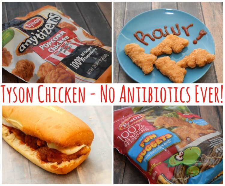 Look for marked packages of Tyson® chicken products with No Antibiotics Ever! #ad