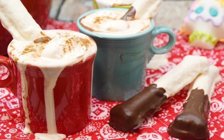 Mexican Hot Chocolate w/ Bone Dippers Inspired by @Disney @Pixar COCO movie! #disney #movie