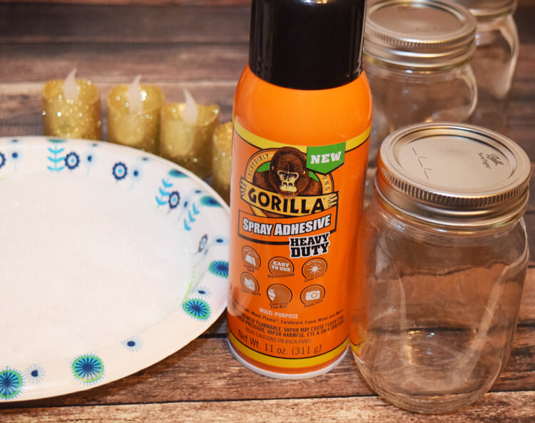 DIY Snow Luminaries for your holiday table or mantle! #ad #GorillaTough @GorillaGlue