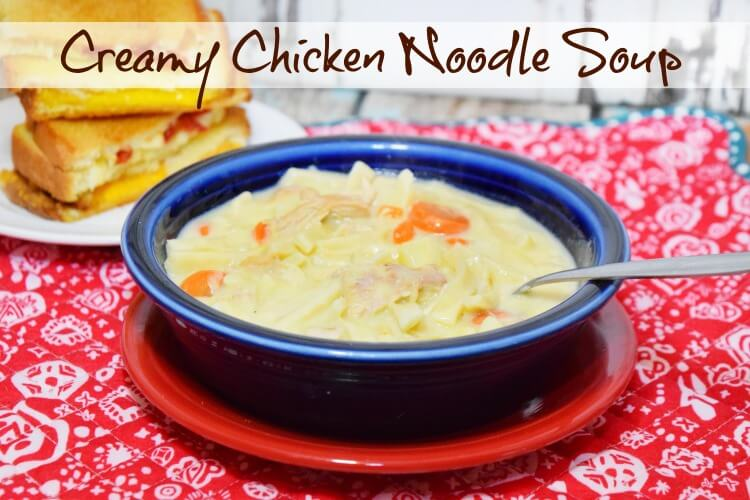 Creamy Chicken Noodle Soup - perfect for a cold winter day or when you're under the weather!
