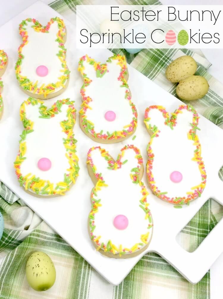Easter Bunny Sprinkle Cookies | The TipToe Fairy