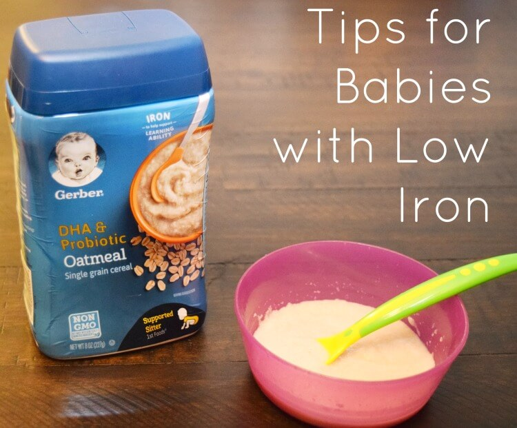 Come learn the 4 tips we used to increase iron levels in our baby like feeding Gerber cereals! #ad #AnythingForBaby