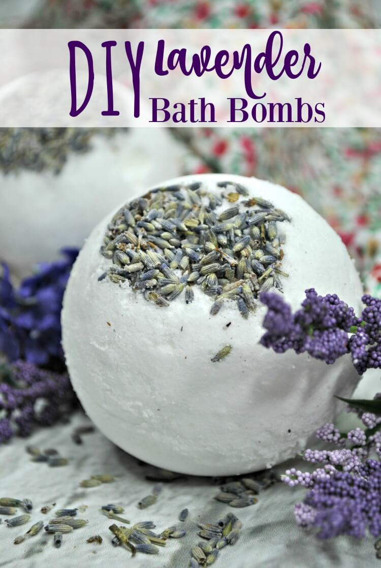 Want to learn to make DIY Lavender Bath Bombs?