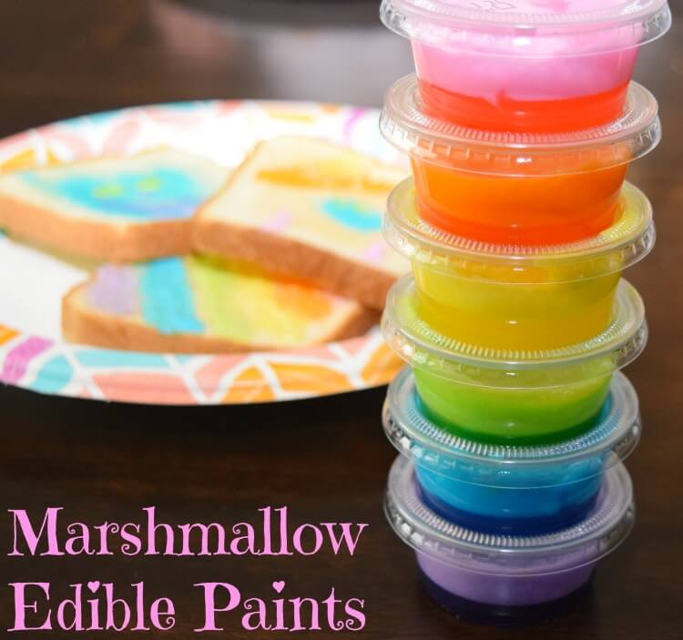 Make some Marshmallow Edible Paints! So easy to make! #ad @DollarGeneral #DixieSummerDG