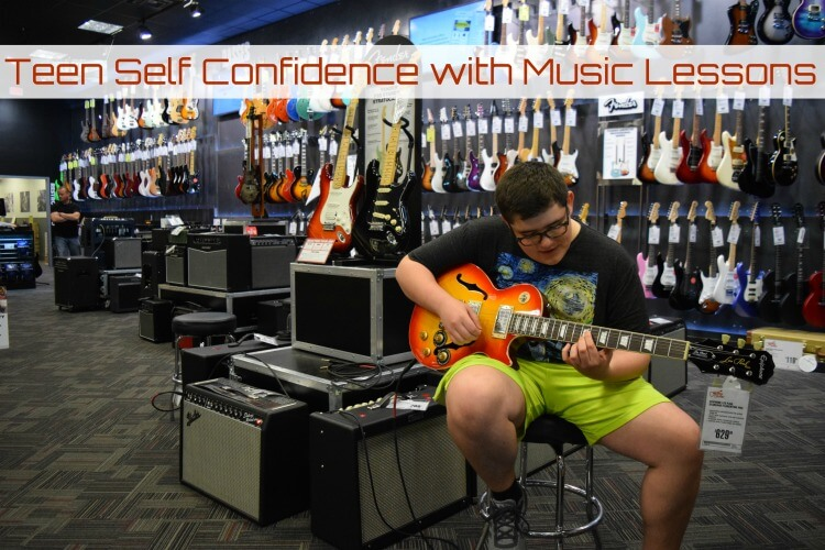 Electric Guitar Lessons can help your teen gain self confidence