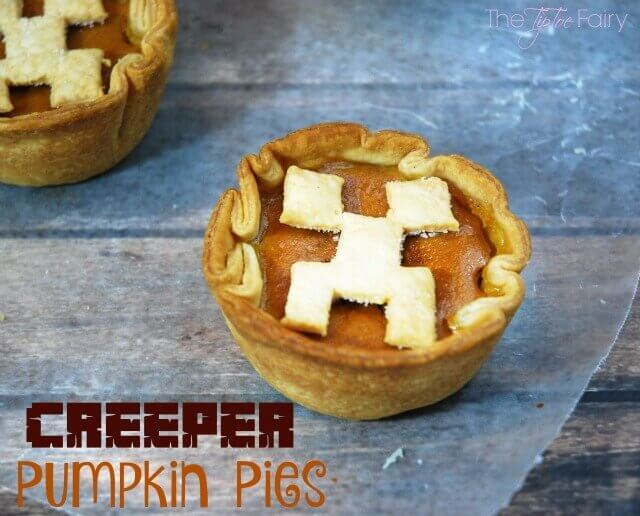 Minecraft Creeper Mini Pumpkin Pies