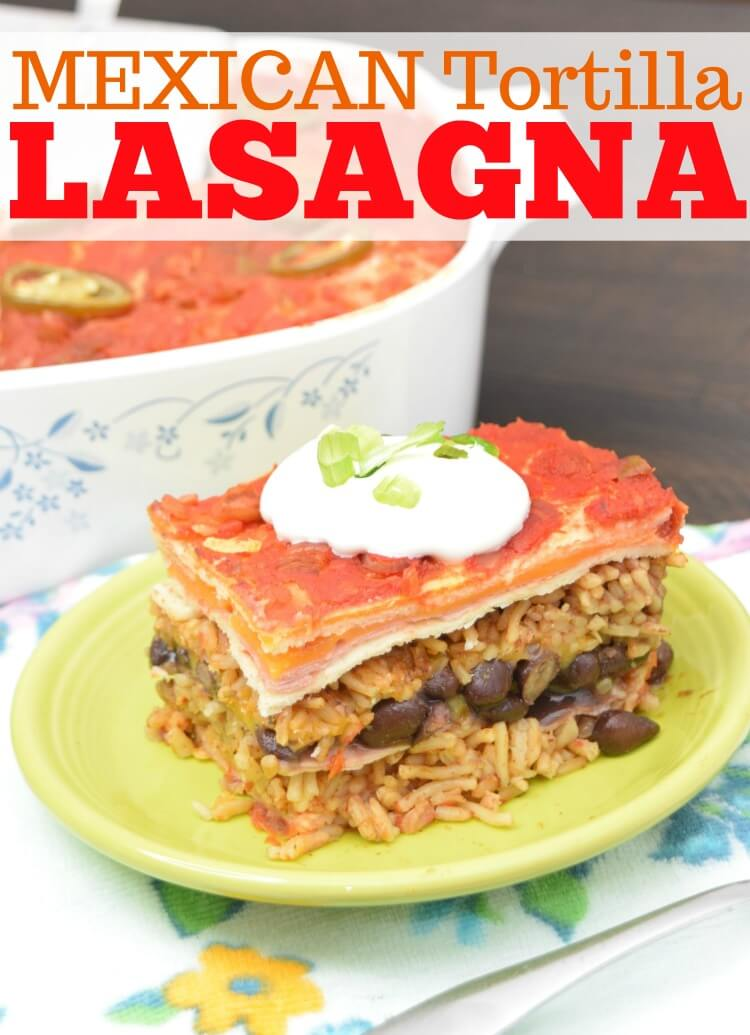 Mexican Tortilla Lasagna - so easy to make