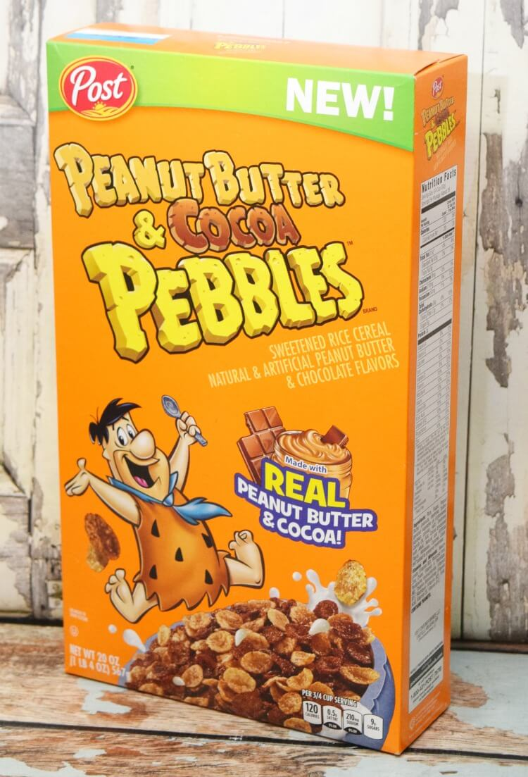 The new Peanut Butter & Cocoa Pebbles cereal