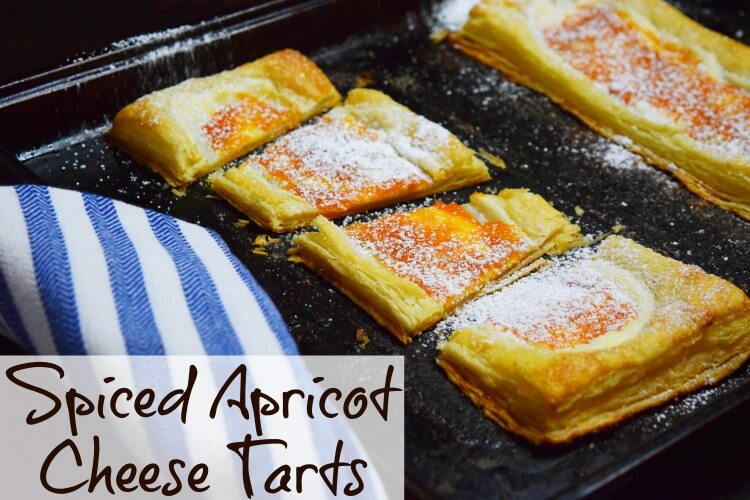Spiced Apricot Cheese Tarts - made with homemade spiced apricot jam