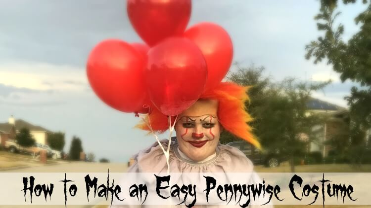How To Make An DIY Easy Pennywise Clown Costume The TipToe Fairy Best Pennywise Costume Pattern