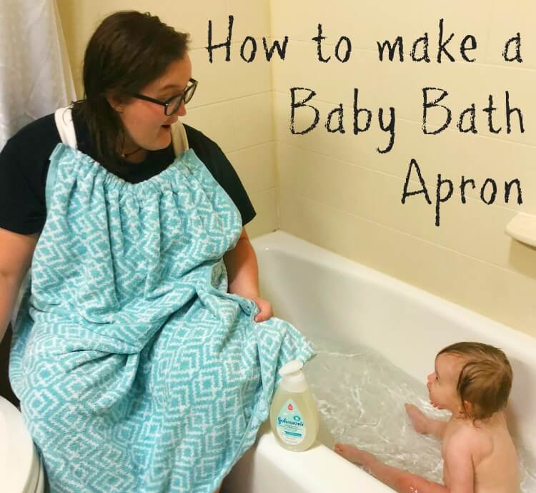 How to make a Baby Bath Apron