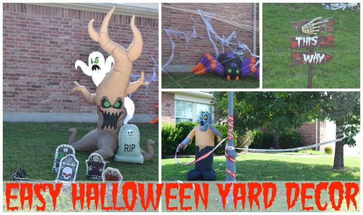 Easy Halloween Yard Decor