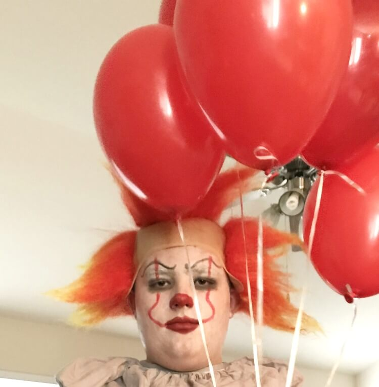 Easy Pennywise Costume Makeup