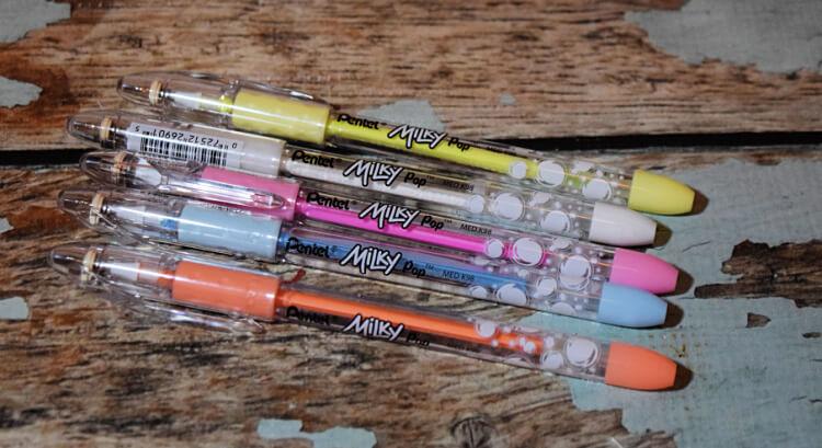 Pentel Milky Pastel Gel Pens