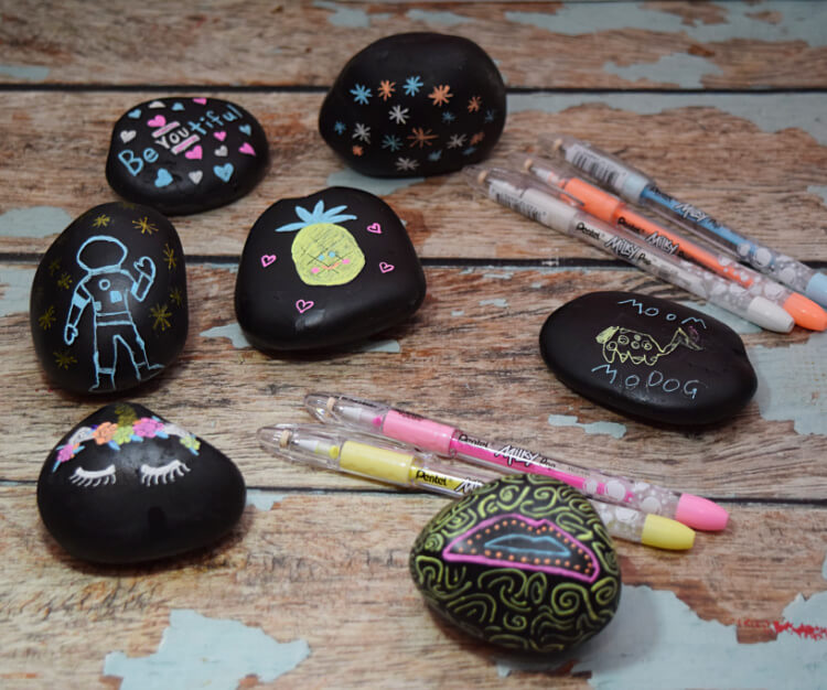 Rock Art with Pentel