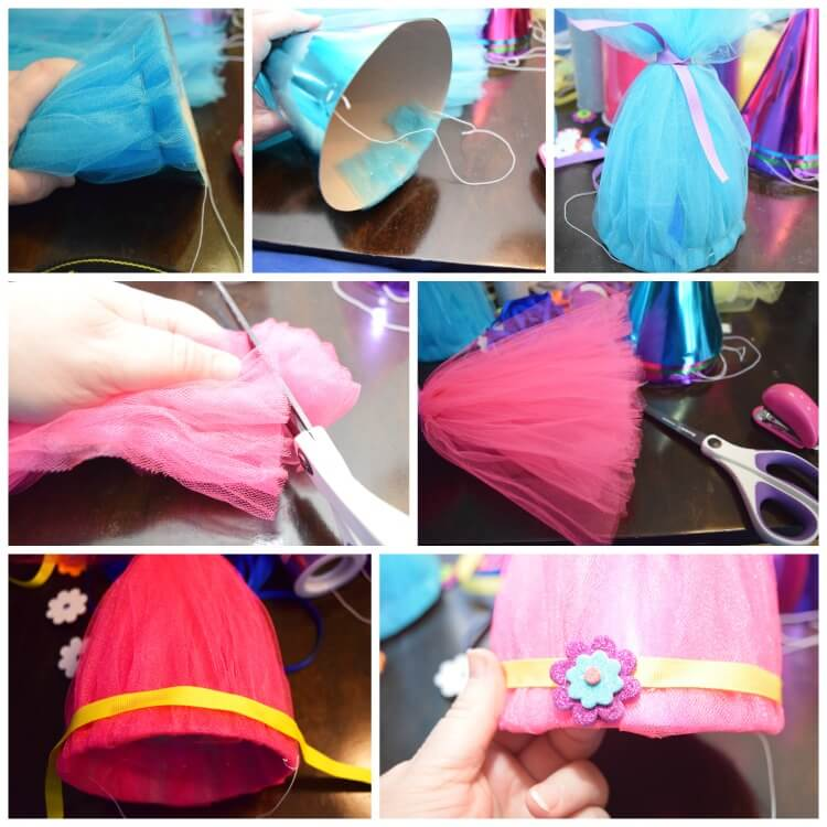 Troll Party Hats how to