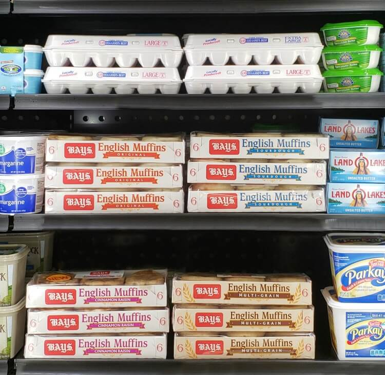 Bays English Muffins - dairy case