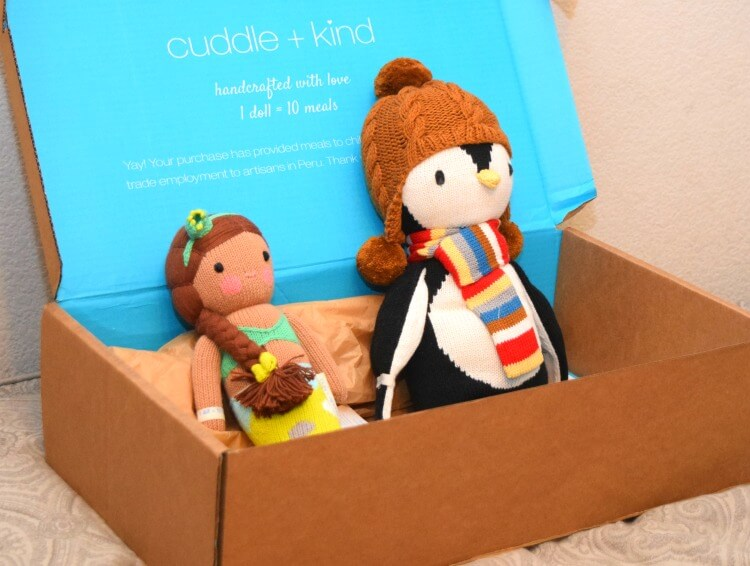 Cuddle + Kind ethically made dolls helping feed hungry children