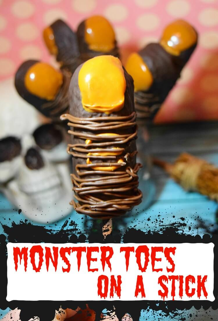 Monster Toes - made from chocolate covered twinkies