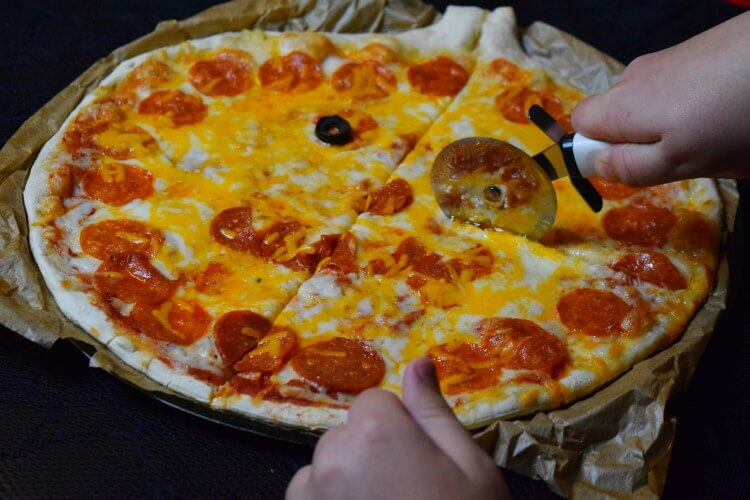 Cooked Mr. Gatti's Halloween Pizza