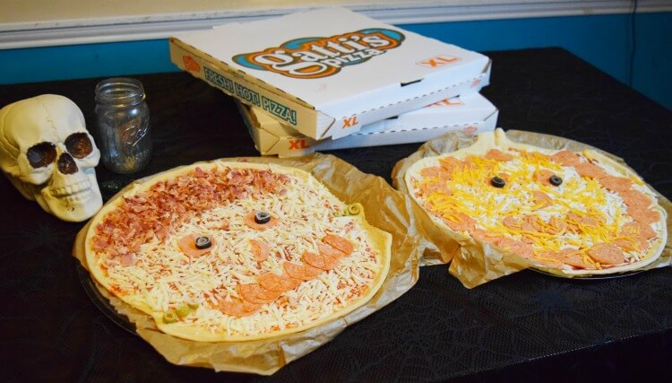 Halloween Pizzas from Mr. Gatti's Pizza