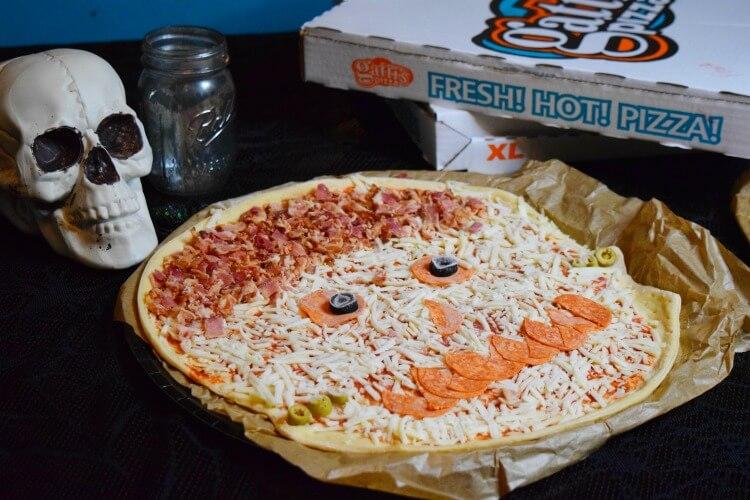 Mr. Gatti's Pizza Frankenstein Pizza