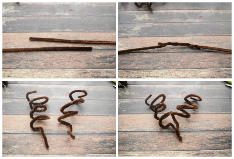 How to make reindeer antlers with pipe cleaners.