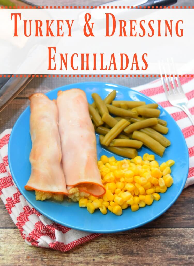 Turkey and Dressing Enchiladas
