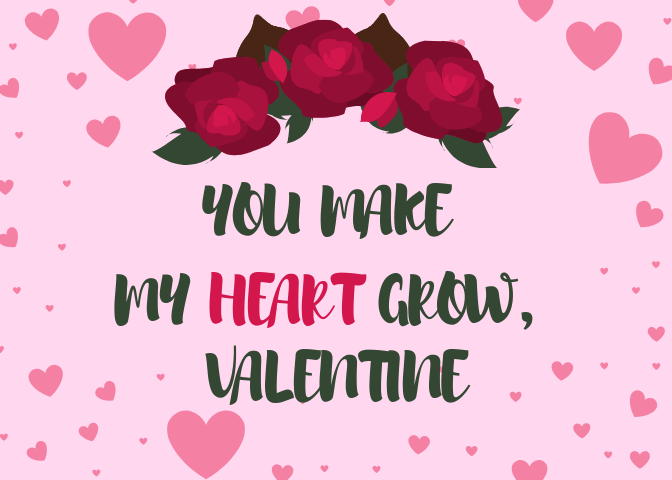 FREE Printable Candy Flower Crown Valentines
