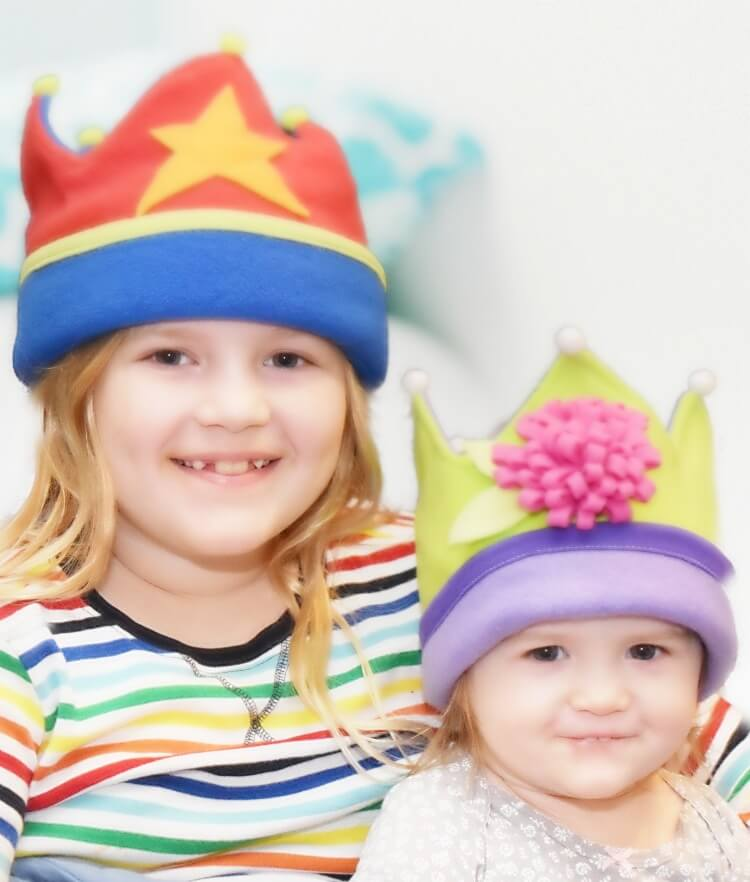 Fleece Crowns for Kids in 2 sizes