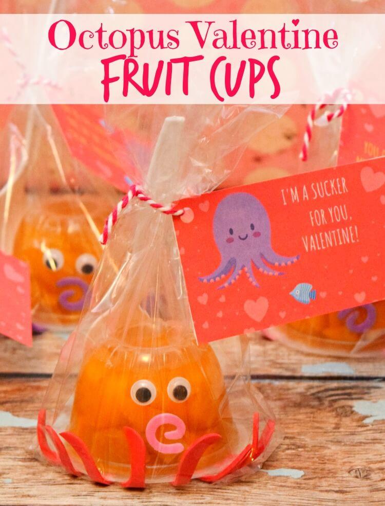 Octopus Valentine Fruit Cup