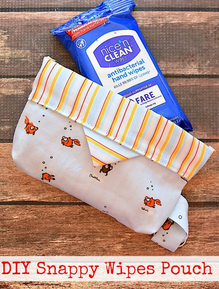 Make a DIY Snappy Wipes Pouch