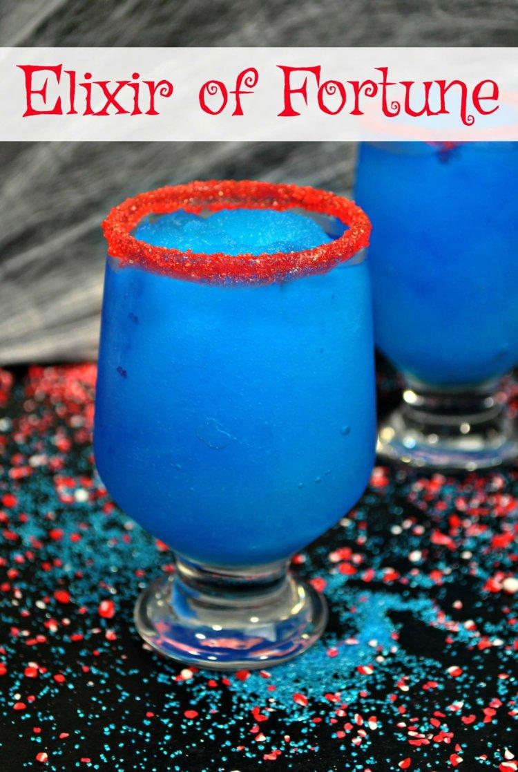 Elixir of Fortune Blue Leprechaun Drink